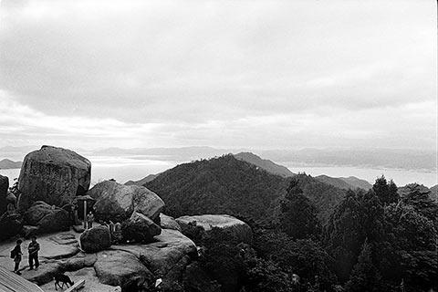 Au sommet du mont Misen