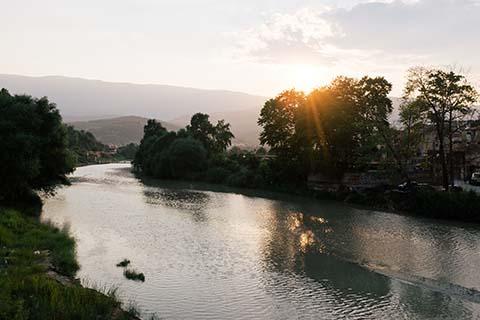 Couché de soleil sur Berat