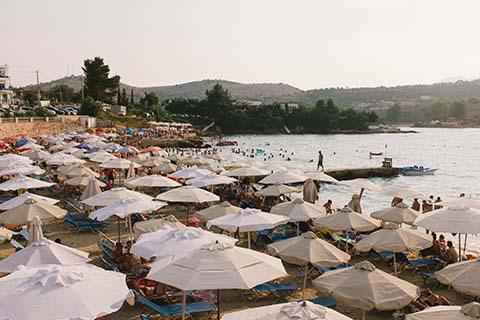 Sur la plage de Ksamil