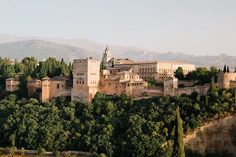 Vue d'une partie de l'Alhambra