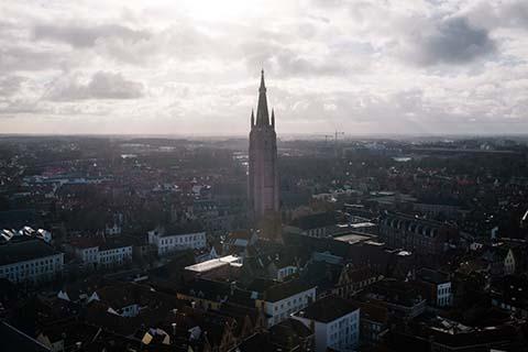 Depuis le beffroi de Bruges
