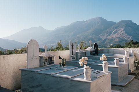 Un cimetière de Crète
