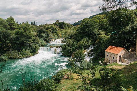 Une des cascades du parc de Krka