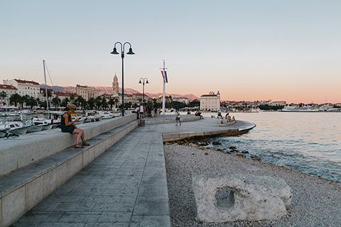 Le bord de mer de Split