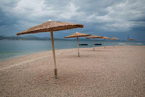 Sur la plage de Zadar
