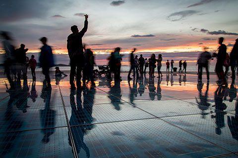 Dernier coucher de soleil à Zadar