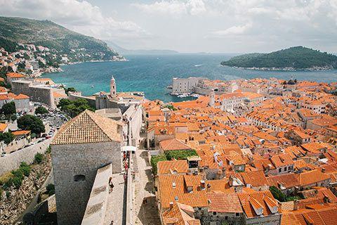 Vue en hauteur de Dubrovnik