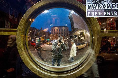 Miroir dans les rues de Dublin