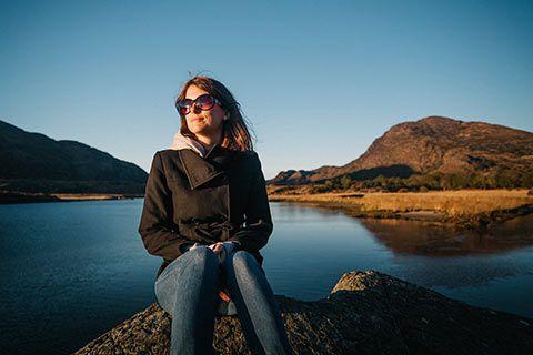 Aurélie dans le Ring of Kerry
