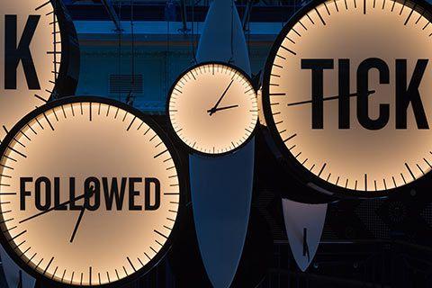 Horloges dans le Guinness Storehouse