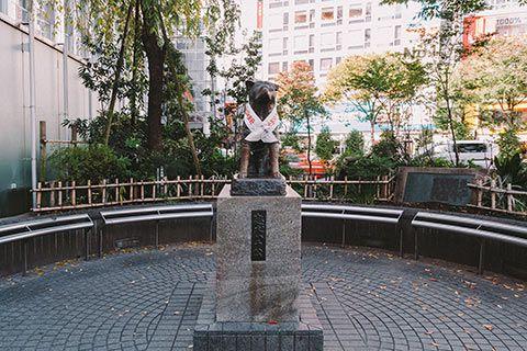Statue de Hachiko à Shibuya