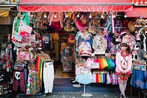 Exemple de boutique dans Harajuku