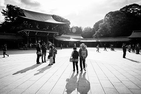Sanctuaire Meiji dans le parc Yoyogi