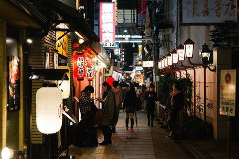 Dans une ruelle d'Osaka