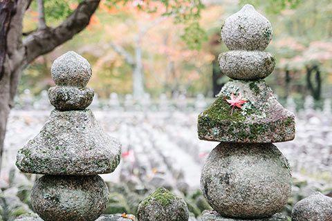 Dans le temple Nenbutsu-ji