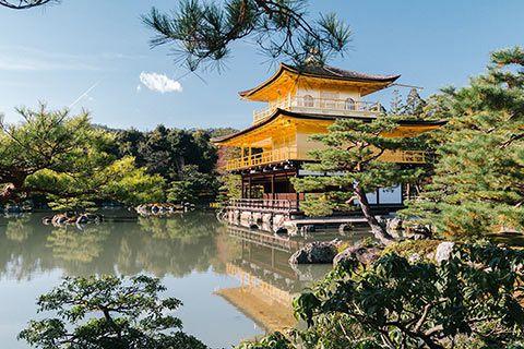 Le pavillon d'or Kinkaku-ji