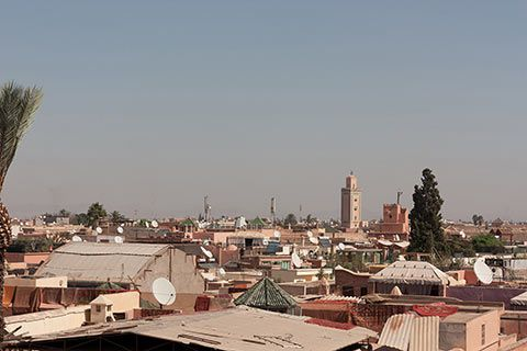 Les toits de la médina de Marrakech