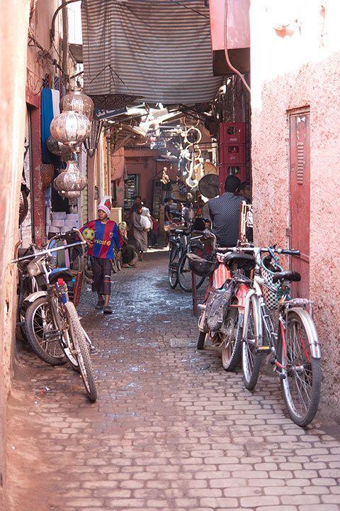 Dans la médina de Marrakech