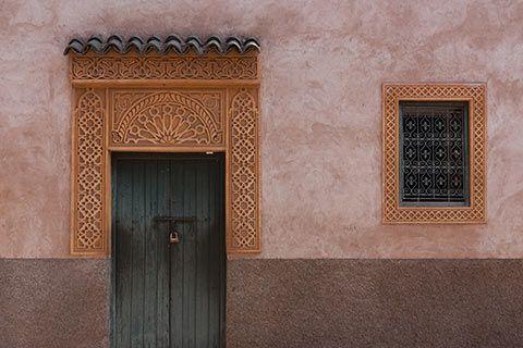 Porte gravée marocaine