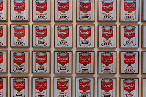 Ouevre d'Andy Warhol au MoMA