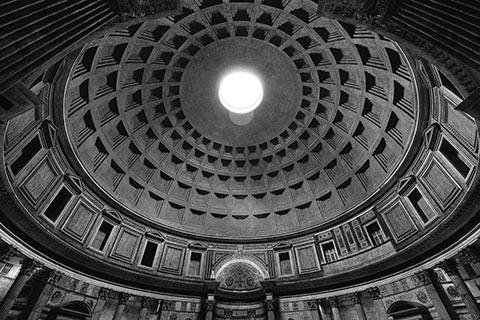 Le dôme du Panthéon de Rome