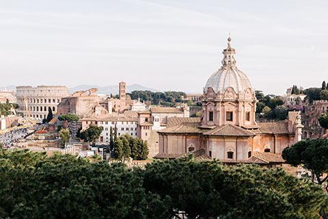Sur les hauteurs de Rome