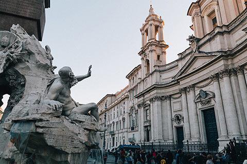 Statue de Bernini piazza Navona