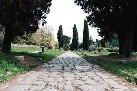 La via Appia à Rome