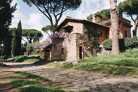 Maison sur la via Appia