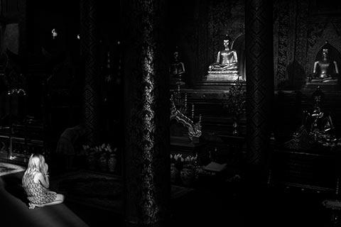 Dans un temple de Chiang Mai