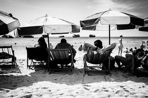 Photo prise sur la plage