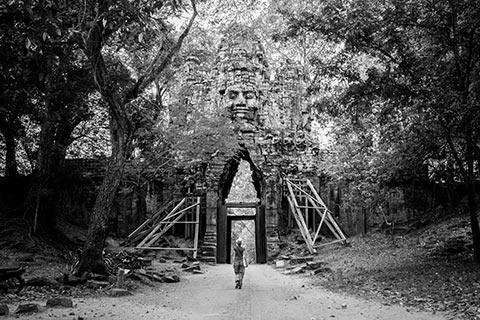 La porte ouest d'Angkor