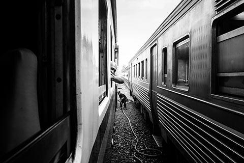 Découverte du train Thaïlandais