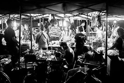 Une infime partie du marché d'Ayutthaya